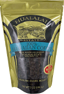 Hualalai Estate Coffee from Kona Big Island of Hawaii - Medium Dark Roast - Whole Beand and Ground coffees