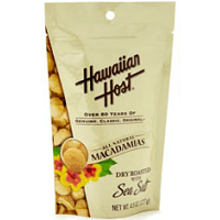 Hawaiian Host Dry Roasted Macadamia nuts, Wholes and Halves, Lightly Salted, No Preservatives.