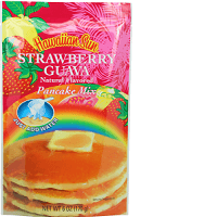 Hawaiian Sun pancake mix all natural flavored Strawberry Guava.