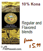Royal Kona Coffee. 100% and 10% Kona coffee blends. Regular, Flavors, Decaf.