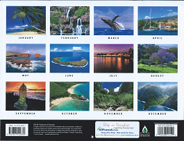 2017 Hawaiian Calendar - Maui The Valley Isle - Overview.