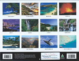 Pictorial 2017 Hawaiian Calendar - Scenery of Hawaii - Overview
