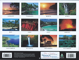 2017 Hawaiian Calendar - Big Island of Hawaiii - Overview.
