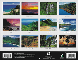 2018 Hawaiian Calendar - Kauai The Garden Isle - Overview.