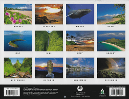 2018 Hawaiian Calendar - Maui The Valley Isle - Overview.