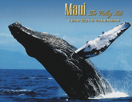 2018 Hawaiian Wall Calendar - Maui The Valley Isle - 12 Page Letter size - Printed with Soy Based Ink.