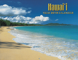 Pictorial 2018 Hawaiian Calendar - Scenery of Hawaii - 12 Page Letter size - Printed with Soy Based Ink.