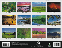 2018 Hawaiian Calendar - Big Island of Hawaiii - Overview.