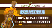 Hawaiian Brew Coffee Products as seen at Neiman Marcus and DFS Galleria Duty free shops.