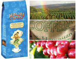The smooth and pleasing flavor of this coffee is created for you by the delicate balance of nature found on the 'garden' island of Kauai. Kauai Coffee grows, harvests, processes, and roasts its 100% Hawaiian Kauai Coffee all at its Kauai plantation. Kauai Coffee is committed to environmentally friendly agricultural practices including being the largest drip irrigation coffee estate in the world.This system delivers water and fertilizers directly to the roots of the trees so there is no spraying or dusting. Kauai Coffee uses no pesticides on its 3,100 acres of coffee.It is GMO free and has cut herbicide use by 75% through cultivation practices. Kauai Coffee uses 100% renewable energy for its farm and plant and additionally provides 5% of the electrical power for the Island of Kauai.