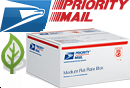 Fill up a priority mail flat rate box. We do not charge for handling and do not mark up USPS rates. We are proud to have the lowest shipping rates from Hawaii.