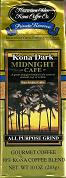 Hawaiian Isles Kona Midnight Cafe - Private reserve - 10oz - 10% Kona gourmet coffee - Deliciously dark, distinctively rich, smooth, fully roasted.