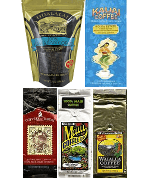 5 Islands coffee sampler packs. Ground or whole bean 5 Pack.