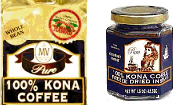 Mulvadi Kona Coffee - Beans and Ground cofees - Instant freeze dried.