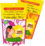 Aloha Sunset Pancake mix. Variety pack. 3 Light and easy 6oz pouches for camping trips and away.