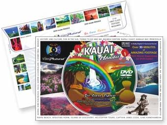 Scenic DVD Video Postcard from the island of Kauai -  Hawaii
