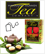 Hawaiian Islands Teas, Hawaiian Natural Tea - Tropical Flavors - Iced Tea - Black, Green, Herbal, Organic and Caffeine free.