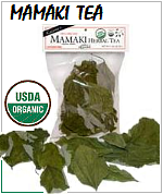 Mamaki tea whole uncut tea leafs, USDA Organic and Caffeine free Herbal tea.