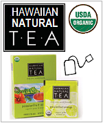 Hawaiian Natural Tea, USDA Organic certified, 3 Tropical Flavors.