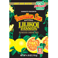 "Likikoi Passion fruit powder drink mix. Makes 1 Quart, 4.97 oz. Natural ingredients and Vitmamin C enhanced. Just add water. Passion fruit or Lilikoi as it's known in Hawaii is an enticing tropical drink. The sweet unforgettable scent of Passion fruit has just the right amount of ""pucker"". Hawaii's favorite canned juices are now available in powder form, packed in a lightweight sachet. These Hawaiian sun natural healthy island refreshment drinks are equally enjoyed either cool or iced. In a handy flat pouch for at home, the office, camping trips, standby emergency bag and on the go."
