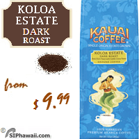 Producing a vivid aroma with nutty notes and hints of sweet chocolate overtones, Kauai's Koloa Estate Dark Roast Ground Coffee is characterized by a richness you'll want to sip and savor. Each cup is a truly satisfying experience.