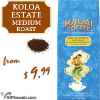 Named for the point of origin for all of this expertly crafted Kauai Coffees, Koloa Estate Medium Roast is ground to produce a smooth, mild cup of coffee that's perfect for any time of day.