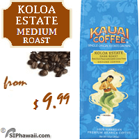 Named for the point of origin for all of this expertly crafted Kauai Coffees, Koloa Estate Whole Bean Medium Roast is ground to produce a smooth, mild cup of coffee that's perfect for any time of day.