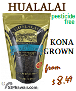 Hualalai Estate Coffee from Kona Big Island of Hawaii - Medium Dark Roast - Whole Beand and Ground coffees.