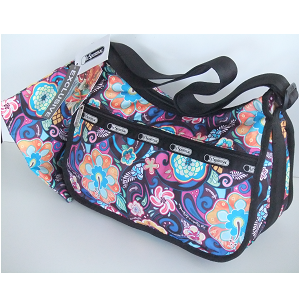 LeSportsac Hawaii Exclusive PARADISE BLOOM, by Kat Reeder, Classic Hobo.