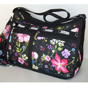 Lesportsac Deluxe Everyday Bag Tropical Fl Hawaii Exclusive