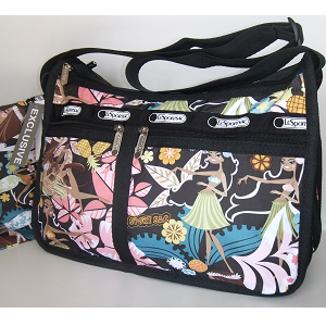 LeSportsac DeLuxe Everyday Bag - Wahine Hula Hawaii Exclusive