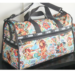 LeSportsac MOANA AHE Hawaii Exclusive print. Large WEEKENDER - Carry on Bag / Duffel - Sports bag.