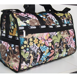 LeSportsac WAHINE HULA Hawaii Exclusive print. Large WEEKENDER - Carry on Bag / Duffel - Sports bag.