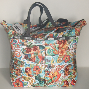LeSportsac MOANA AHE Hawaii Exclusive design - Large Tote bag with zippered top.