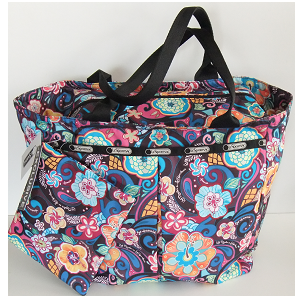 LeSportsac PARADISE BLOOM Hawaii Exclusive design - Large Tote bag with zippered top.