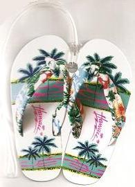 Hawaiian LUGGAGE TAGS - Slippers - 'a Little Aloha for your travel gear'