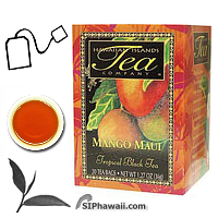 An ALL NATURAL tropical black tea. Experience the enticing aroma and rich juicy essence of Mango. These hand picked tea leaves are withered, rolled and fully processed using orthodox methods into a superior black tea. Box 20 individually sealed tea bags.