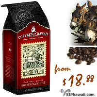 The Original Molokai MuleSkinner Dark Roast - Rugged terrain - Whole Bean Coffee. A natural-dried Arabica coffee roasted to a rich, dark finish. A hearty coffee for the true coffee lover. Smooth, full bodied, low acidity, rich dark hearty finish with a hint of spice.