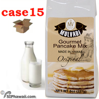 Hawaiian Gourmet Pancake Mix  - By the Case, 5 of each flavor or SAME - Limit 1 per order and do not order anything else.