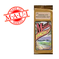 Maui Pancake Waffle mix Chocolate Macadamia Nut Hawaii.