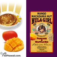 Mango Macadamia Nut Pancake mix with REAL Fruit bits by Hula Girl Waffle mix - Fresh from Hawaii.