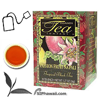 An ALL NATURAL tropical black tea. With exotic fragrance and unique flavor of Passion fruit 'The Taste of the Tropics'. These hand picked tea leaves are withered, rolled and fully processed using orthodox methods into a superior black tea. Box 20 individually sealed tea bags.