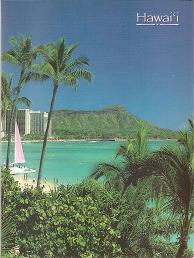 "Hawaiian PHOTO ALBUMS - 8.4"" x 6.4"" - Stores 40 photos sizes up to 4"" x 6"" - Waikiki Beach and Diamond Head -"