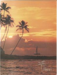 "Hawaiian PHOTO ALBUMS - 8.4"" x 6.4"" - Stores 40 photos sizes up to 4"" x 6"" - Hawaiian Sunset -"