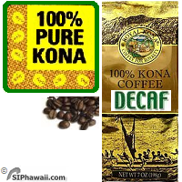100% Kona Coffee DECAFFEINATED BEANS - MEDIUM Roast Private Reserve. 100% State of Hawaii certified Kona Coffee. State of Hawaii Certification ensures that coffee beans sold as Kona are genuine and meet regulatory quality and grading standards. 100% of the green Kona Coffee beans are inspected and certified for Quality, Condition and Origin by the State of Hawaii.