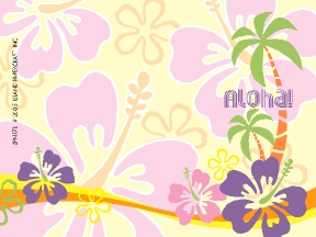 STICKY NOTES - 'a Little Aloha reminder' with Hawaiian sticky notes -