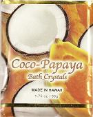 Coconut Papaya Fragrance BATH CRYSTALS - Made in Hawaii, Enriched with Hawaiian botanical extracts. Biodegradable and  Environment friendly.