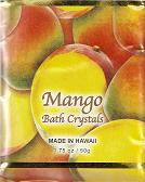 Mango Fragrance BATH CRYSTALS - Made in Hawaii, Enriched with Hawaiian botanical extracts. Biodegradable and  Environment friendly.