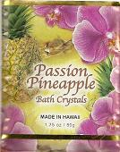 Passion Fruit Fragrance BATH CRYSTALS - Made in Hawaii, Enriched with Hawaiian botanical extracts. Biodegradable and  Environment friendly.