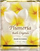 Plumeria Fragrance BATH CRYSTALS - Made in Hawaii, Enriched with Hawaiian botanical extracts. Biodegradable and  Environment friendly.